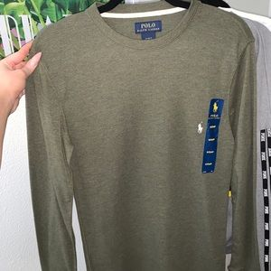 Olive green polo thermal